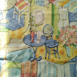 """French Country """"Bistro Pattern"""" Drapes (2 Panels)"""
